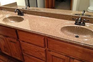 Bathroom sink countertops