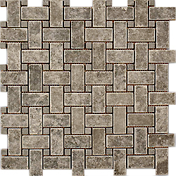 Nero Basket Weave Mosaic