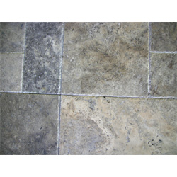 French Pattern with Silver Travertine