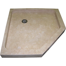 Neo Angle Travertine Shower Base
