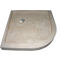 Round Travertine Shower Base