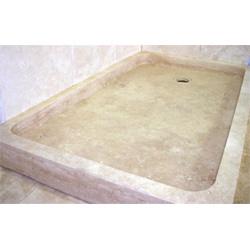 Round Travertine Shower Base