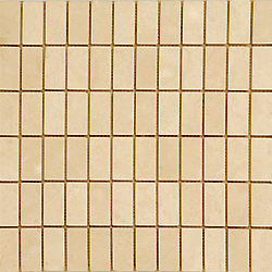 1″X2″ Ivory Travertine Mosaic
